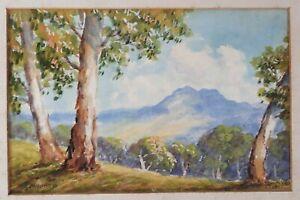 Signed Herbert Clarke (H.C.) Simpson (1879-1966) Original Watercolour Of Dayboro