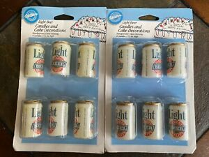 Wilton Light Beer Can Birthday Candle Cake Novelty Decoration Vintage Set 6 NOS