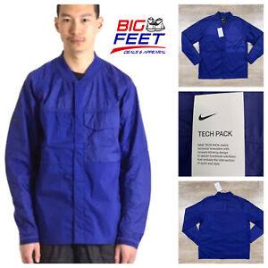 $160 Size Medium Nike NSW Sportswear TECH PACK Woven Jacket Coat Blue CJ5157-590