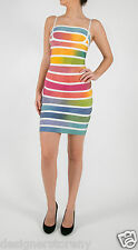 Herve Leger Rainbow bandage dress XS