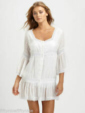 NEW AUTHENTIC MELISSA ODABASH WHITE CROCHET  KAFTAN / DRESS SIZE Small