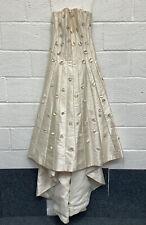 Anu Pam Classic Silk Champagne Wedding Dress Size UK12 VGC