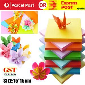 15X15CM 100pcs Square Colored Origami Folding Paper DIY Crafts Tools 10 Color