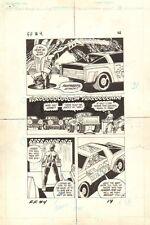 Flash Force 2000 #4 p.14 Terminus 3 Escapes Matchbox Car 1983 art by Sal Trapani Comic Art
