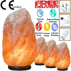 HIMALAYAN SALT LAMP CRYSTAL PINK ROCK SALT LAMP NATURAL HEALING 100% GENUINE