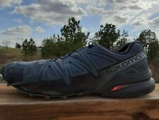 Salomon Mens Speedcross 4 Mens Trail Running Shoes Grey Teal Size 9.5 407409