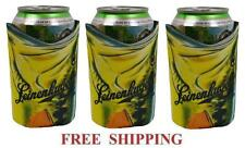 Leinenkugels Fishing 3 Beer Can Holders Cooler Coozie Coolie Koozie Huggie New