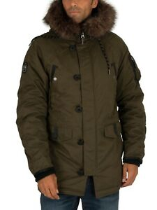 Superdry SDX Parka Jacket Reduced - Surplus Goods Olive