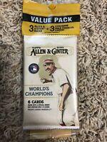 2020 Topps Allen & Ginter Sealed Value Pack Baseball 3 Gold Parallel Cello pack