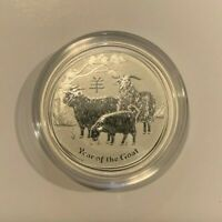 2015 1/2 oz .999 Fine Silver Australian Year Of The Goat Coin