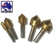 5x 90 Degree Flute Chamfer Countersink Drill Bit Hex Shank Wood Cutter TDRI31805