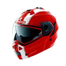 Caberg Duke Legend rojo/Blanco Motocicleta Casco modular Todos Los Tamaños
