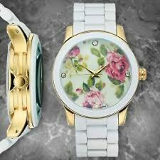 NEW Picard & Cie 9369 Womens Floral Collection White Flower Fashion Cute Watch