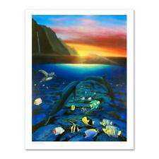 """Wyland """"Kiss for the Sea"""" Signed Canvas Limited Edition Art COA"""