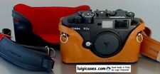 LUIGI CASE for VOIGTLANDER BESSA RF R2-R3-R4+UPS,Leica TM,DELUXE STRAP OPTIONAL
