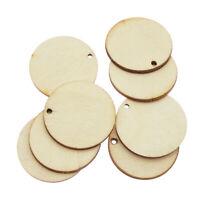 50pcs 2-3cm Asorted Wood Slice Log Blank Pinewood Slab DIY Pendant Charms Crafts