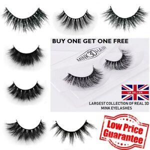 3D Mink Eyelashes 1 to 10 Pairs Thick Long Handmade Fashion/Glamour/Natural