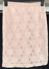 H&M Conscious Collection Nude Lace Skirt Size 10 Lace Pencil Floral High Waisted