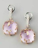 Cute 14K Gold Filled Pink Topaz CZ Drop/Dangle Earrings Wedding Bridal Jewelry