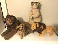 3 - Vintage 50's-60's Steiff Mohair Animals & 1 - Puppet