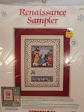 "Dimensions Renaissance Sampler Nativity Scene Counted Cross Stitch Kit 12"" x 16"""