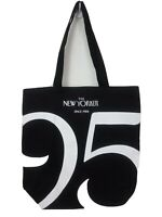The New Yorker Magazine 95 Tote Bag Black White Canvas Limited Edition