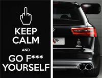 KEEP CALM GO F*CK YOURSELF Funny Bumper Sticker Vinyl Decal Car JDM Fck illest