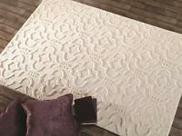 SALE Moorish Marrakech Cream 3D Thick Wool Rug in various sizes