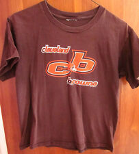 CLEVELAND BROWNS helmet locked logo XL youth T shirt NFL geometric CB 1999