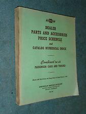 1933-1961 CHEVROLET CAR / TRUCK PARTS PRICE LIST ORIGINAL PARTS PRICE CATALOG