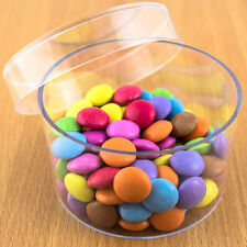 1x Round Fillable Transparent Plastic Container gift wedding favours