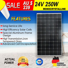 Komaes 24v 250w Solar Panel Kit House Caravan Camping Power Battery Mono Boat