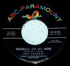 "RAY CHARLES~""GEORGIA ON MY MIND / BACK TO VIRGIN~""VG+""~""FREE S/H""~ 45!!!"