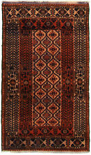 "Hand-knotted Afghan 2'9"" x 4'11"" Bordered, Tribal Wool Rug"