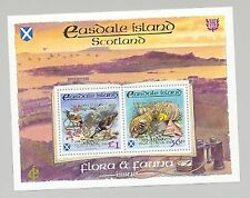 Easdale (Br Local) 1998 Scouts Double Gold o/p Shells, Birds, Crabs 1v M/S of 2
