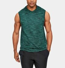 Under Armour Men's Green UA Vanish Seamless Sleeveless Hoodie
