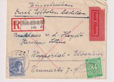 Gemeinsch.Ausg. Mi. 936;957, Not-R-Eilbf. M.Gladbach - Wuppertal, 16.6.48
