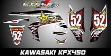 KAWASAKI KFX 450R SEMI CUSTOM GRAPHICS KIT WHITE