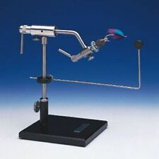 DYNA KING BARRACUDA ROTARY FLY TYING VISE WITH PEDESTAL BASE 100 FREE HOOKS