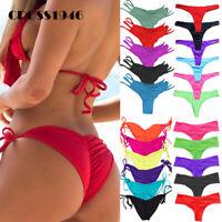 Women Bikini Thong Bottoms Beach Swimwear Brazilian G-String Cheeky Swimsuit V31