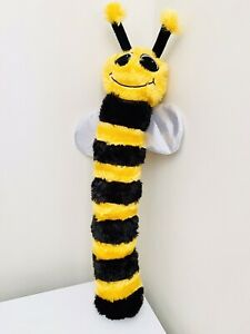 "SNUGS ""BEE"" PLUSH INTERACTIVE CRINKLE & SQUEAK DOG TOY"