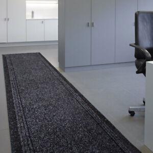 Non Slip Hall Runner | Durable Dark Grey Mats | Long Hallway Rug | 66cm Width UK