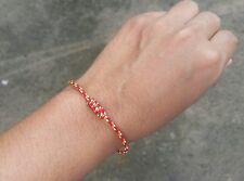 Super Thin Slim Thai Monk Blessed Buddhist Wristband Bracelet Friendship Red