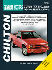 Chilton 28862 Repair Manual GM SUVs S10/Blazer/Jimmy/Bravada/Envoy/Sonoma 94-04