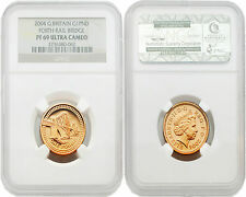 Great Britain 2004 Pattern Forth Rail Bridge 1 Pound Gold NGC PF69 ULTRA CAMEO