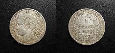 IIIème République - 1 franc Cérès 1872 petit A Paris - F.216/5