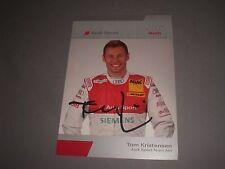 Tom Kristensen signed signiert autograph Autogramm auf Autogrammkarte