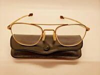 Vintage Welsh MFG CO 1/10 12K GF 5 1/2 Gold Aviator Sunglasses FRAMES 52mm E078