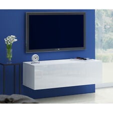 Wall Mounted Floating TV Unit Stand Sideboard Cabinet Cupboard White High Gloss