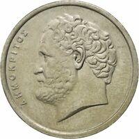 10 DRACHMAS GREEK COIN 1976-1998 FEAT.DEMOKRITOS ANCIENT GREECE